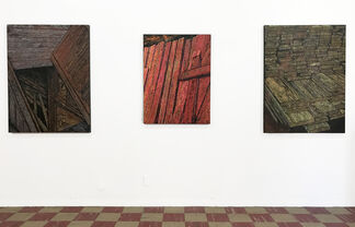 """Peter Hess - """"Woodworks"""", installation view"""