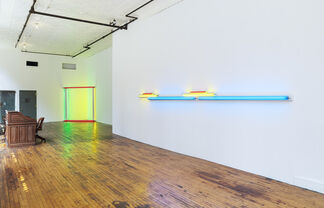 Dan Flavin, 2 works, installation view