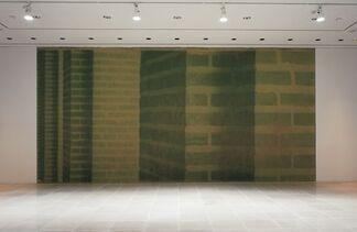 Green brick, green back, installation view