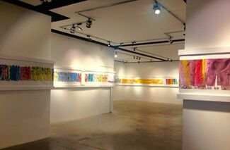 CHAOUKI CHAMOUN - ARTWORKS ON PAPER CUT TO ORDER, installation view