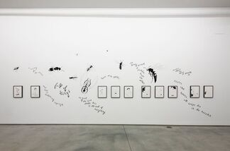 """Marc Hundley, Donald Urquhart, and Jean-Luc Verna - """"I Sent My Love A Red, Red Rose"""", installation view"""