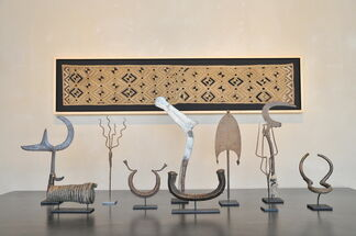 African Objects and Textiles, installation view