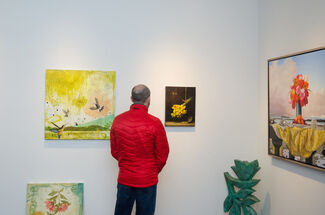 April Flowers, installation view