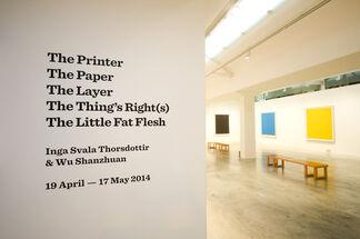 Wu Shanzhuan & Inga Svala Thorsdottir: The Printer/The Paper/The Layer/The Thing's Right(s)/The Little Fat Flesh, installation view