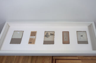 Robert Rauschenberg: North African Collages & Scatole Personali c. 1952, installation view