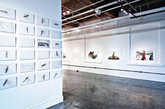 Robert Bean: 273 (brushing information against information), installation view