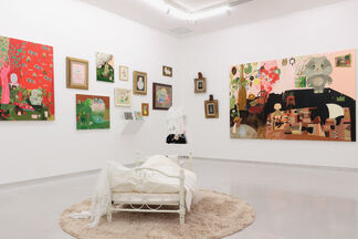 """Tomoko Nagai 2006-2018 """"Atelier in Peach and Rose Color, Magic"""", installation view"""