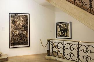 """Robert Combas - """"Pour la couleur c'est au 1er étage"""", installation view"""