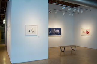 Entwined: New Prints by Julie Buffalohead, installation view