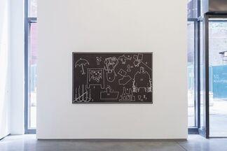Andrew Gbur, Jaya Howey, David Ratcliff, installation view