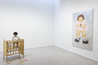 Kim Dingle: Painting Blindfolded, installation view