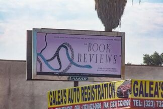 The Manifest Destiny Billboard Project, Chapter 10: Certain Snakes by Matthew Brannon, installation view