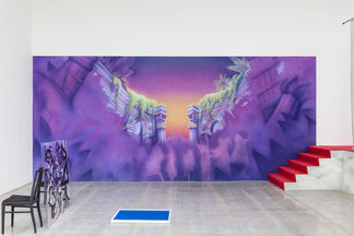 FADE IN: INT. ART GALLERY – DAY, installation view
