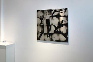 Tama Hochbaum: silver screen, dancers, installation view
