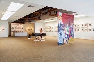 Bizarre Life - The Art of Elmer Batters & Eric Stanton, installation view