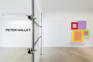"""PETER HALLEY """"New Paintings"""", installation view"""