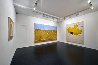 Rose Wylie: Yellow Desert Paintings, installation view