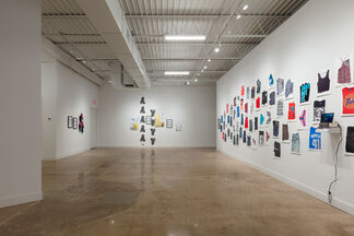 CLOTHING CRIMES . . . and Misdemeanors, installation view