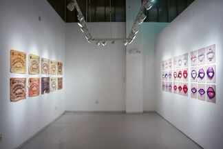 Paper variables 2015: New works in paper by Gina Beavers & Brock Enright, installation view