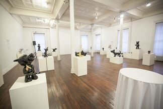 """""""The Dog's Notes"""" Exhibition in New York, installation view"""