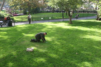 Bill Beirne: Madison Square Trapezoids, with Performances by the Vigilant Groundsman, installation view