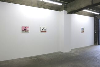 Jon Campbell, Takeo Hanazawa, Devin Troy Strother, installation view