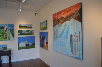 New Works by Carol Young and Caroline Morgan, installation view