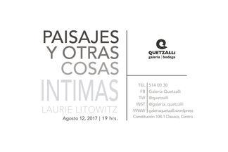 Paisaje y Otras Cosas Intimas, installation view