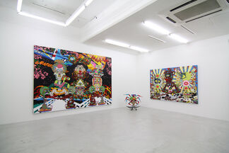 Keiichi Tanaami, Cherry Blossoms Falling in the Evening Gloom, installation view
