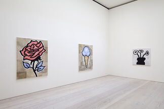 Donald Baechler: NEW PAINTINGS and SCULPTURES, installation view