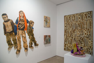 Group Show featuring RETNA, Swoon, Olek, Aiko, Pixelpancho, and Jay West, installation view