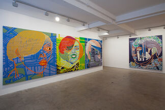 Boris Nzebo, Painting the Hot Town, installation view