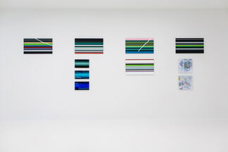 Conflict, Polarisation and Noise Paintings, installation view