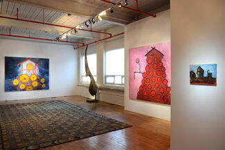 Chuck Webster - Shelter, with works by Thornton Dial, William Hawkins, Marsden Hartley and Martin Ramirez, installation view