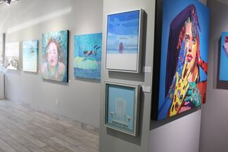 Blue Me Away and Summer Small Works Show, installation view