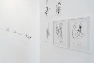 Solo Exhibition - Pélagie Gbaguidi 'Disclosed Traces and Triadic Apparitions', installation view