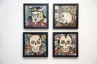 American Skulls and Flowers, installation view