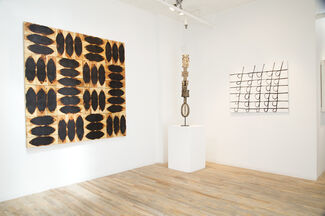 Parallel Lines:  Bettina Blohm, Willie Cole, Carol Hepper, Joan Witek & Traditional Works of African Art from Merton D. Simpson Gallery, installation view