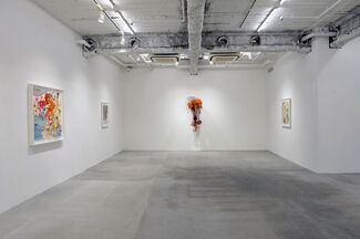 """Rina Banerjee """"A bundle of twine and difficulties of the tongue:, installation view"""