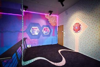 """Act II, Volume IV: """"Cascading Nebula"""" by Curiot, installation view"""