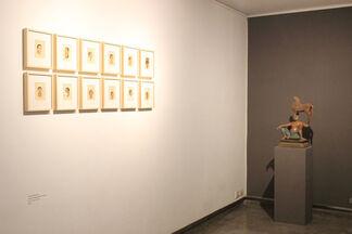 Postponed Poems - terracotta sculptures & drawings by Manjunath Kamath, installation view
