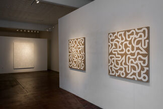 Valerie Jaudon - Stations and States and In the Project Space, Chuck Webster - Lands and Castles, installation view
