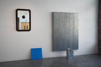 Charles Linder: Invisible Fencing Luminaries, installation view
