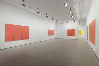 Carl Ostendarp: Blanks, installation view