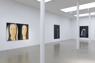 Alex Katz: Black Paintings, installation view