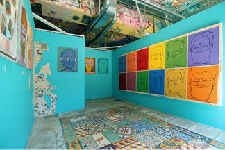 He Lives a Painted Life: Paintings by Isaiah Zagar, installation view