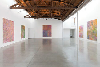Damien Hirst: The Veil Paintings, installation view