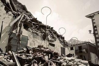 """Borghi of Italy – #NO(F)EARTHQUAKE"""". Collateral Event of the 16th International Architecture Exhibition – La Biennale di Venezia., installation view"""