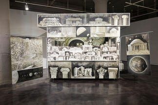 Ellen Harvey: The Museum of Ornamental Leaves and Other Monochromatic Collections, installation view