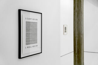 Ville Andersson: I can't go on. I will go on., installation view